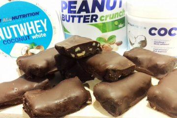 Низьковуглеводні шоколадні батончики з протеїном