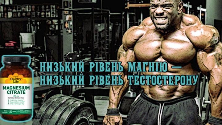 Низький рівень магнію — низький рівень тестостерону