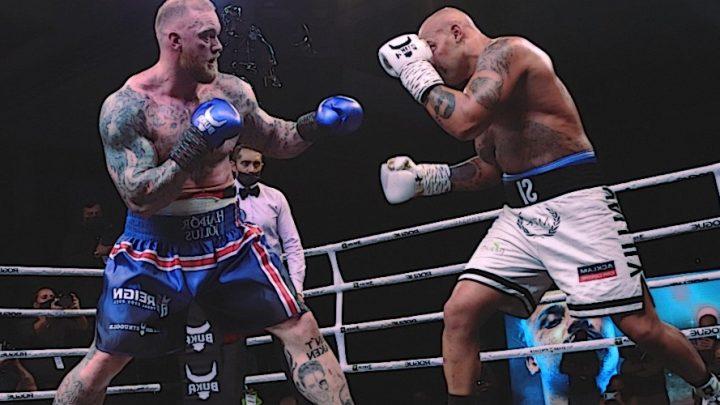 Гафтор Бйорнссон побував на підлозі рингу під час свого другого боксерського поєдинку