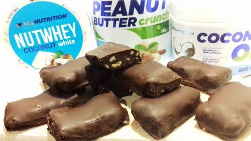 Низкоуглеводные шоколадные батончики с протеином: готовое блюдо