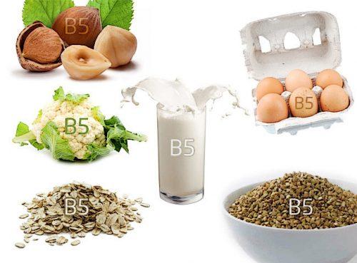 Продукти, багаті вітаміном B5