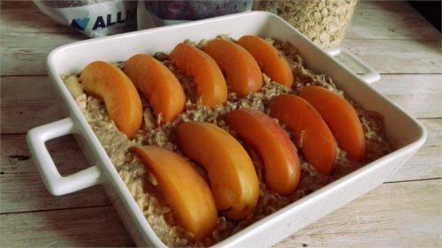 Запеканка из овсянки с фруктами: процесс приготовления
