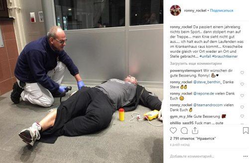 Пост Ронни Рокела до операции