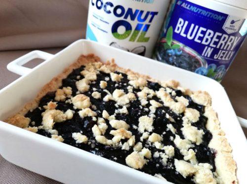 Чорничний пиріг без цукру: процес приготування