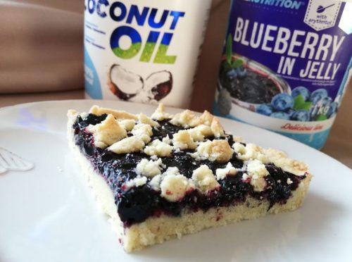 Чорничний пиріг без цукру: готова страва