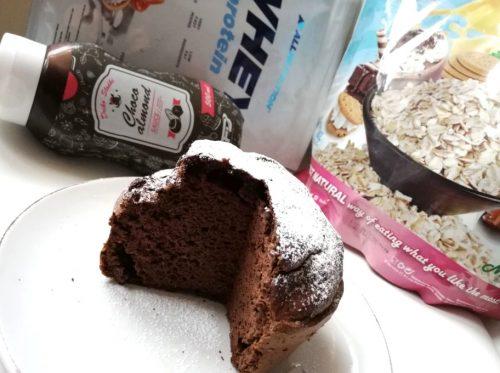 Тыквенный кекс с протеином: готовое блюдо