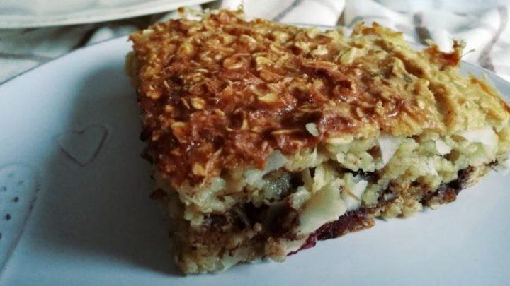 Творожно-овсяный пирог