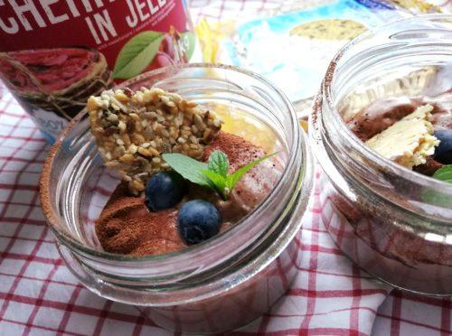 Диетический шоколадно-вишневый мусс: готовое блюдо
