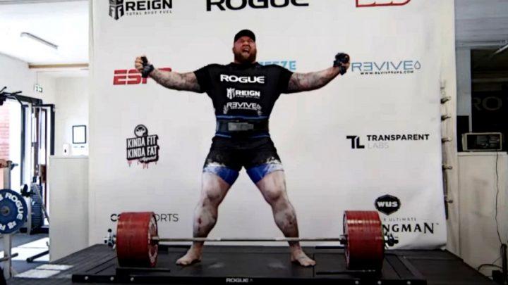 Хафтор Бьёрнссон установил мировой рекорд в становой тяге