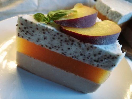Дієтичний персиковий чізкейк: готова страва