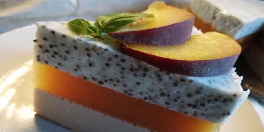 Диетический персиковый чизкейк